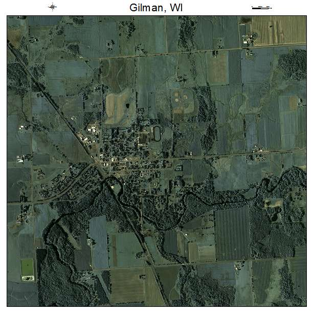 Aerial Photography Map Of Gilman  Wi Wisconsin