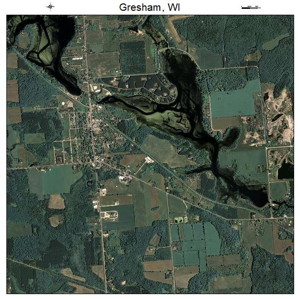Aerial Photography Map of Gresham, WI Wisconsin