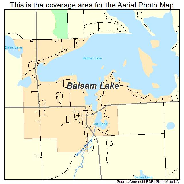 Aerial Photography Map Of Balsam Lake  Wi Wisconsin