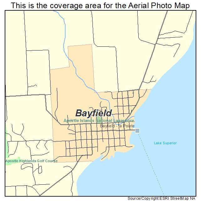 Aerial Photography Map Of Bayfield WI Wisconsin