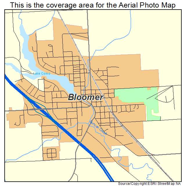 Aerial Photography Map of Bloomer, WI Wisconsin