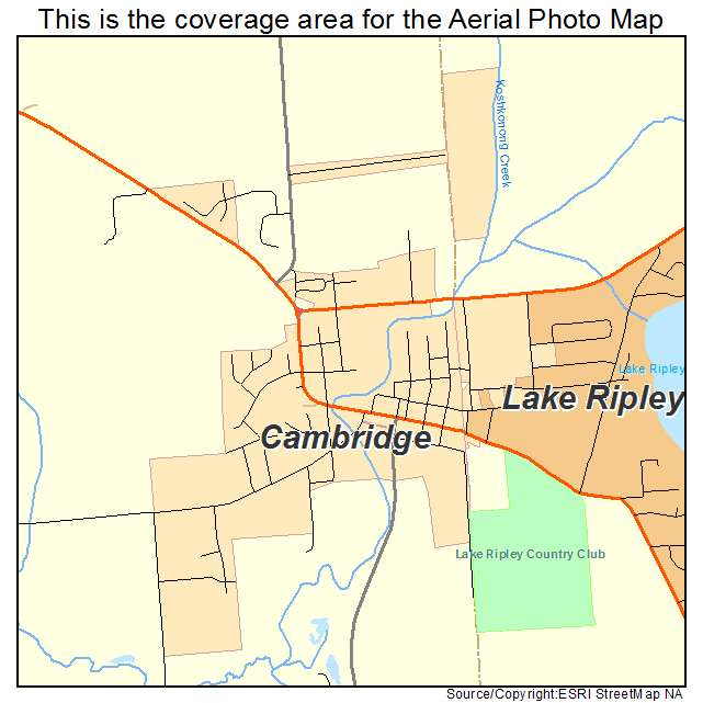 Aerial Photography Map Of Cambridge  Wi Wisconsin