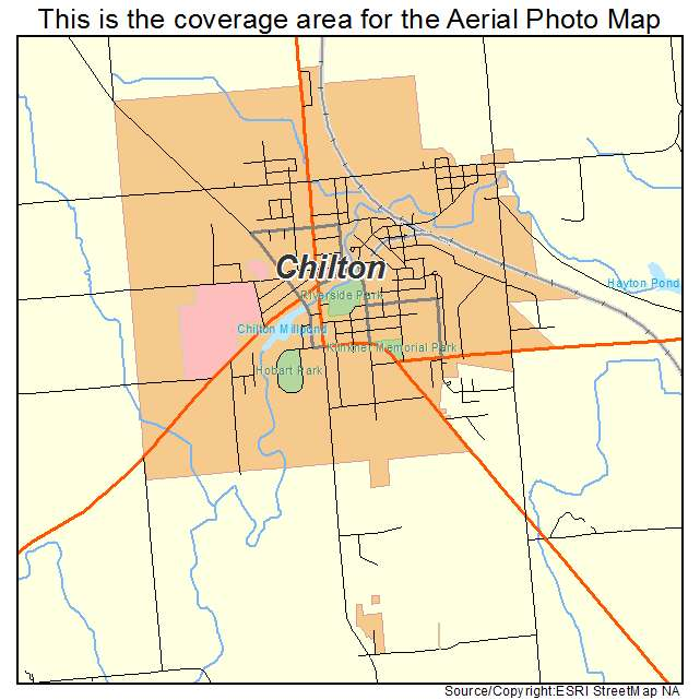 Aerial Photography Map Of Chilton  Wi Wisconsin