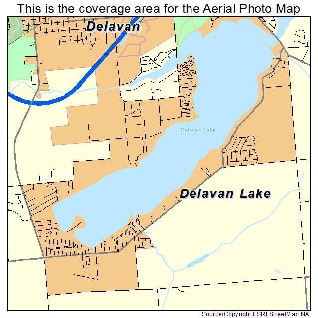 Map of Delavan, Walworth County, Wisconsin - road map ...