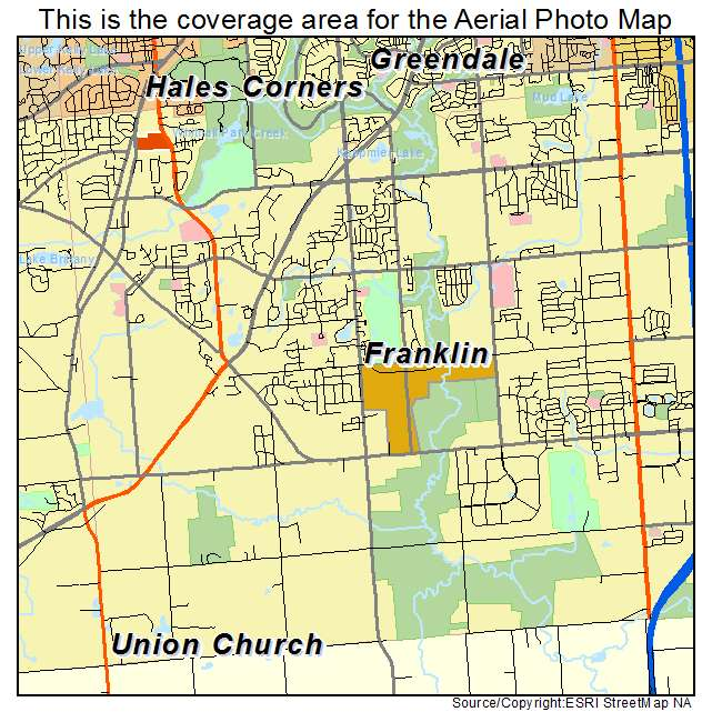 Aerial Photography Map Of Franklin Wi Wisconsin