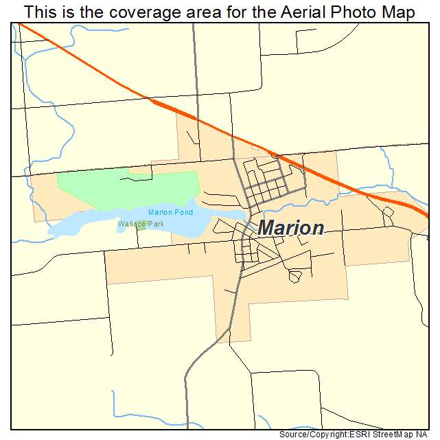 Marion Wisconsin Map.Aerial Photography Map Of Marion Wi Wisconsin
