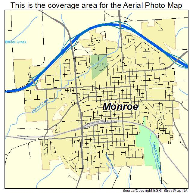 Monroe, WI location map