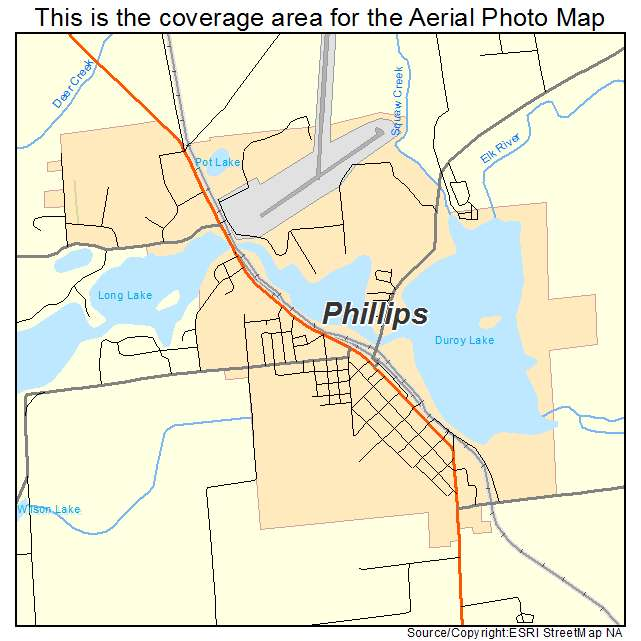 Phillips, WI location map