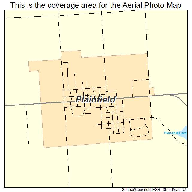 Aerial Photography Map Of Plainfield Wi Wisconsin