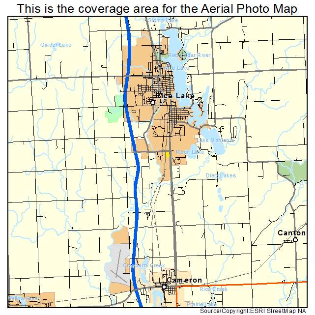Aerial Photography Map Of Rice Lake  Wi Wisconsin