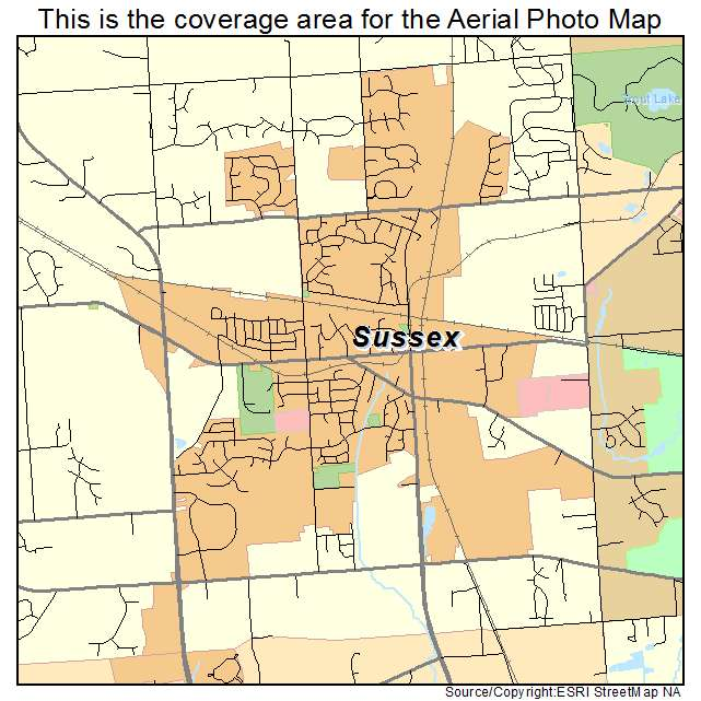 Sussex Wisconsin Map.Aerial Photography Map Of Sussex Wi Wisconsin