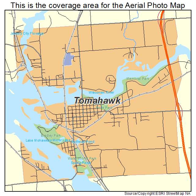 Tomahawk Wisconsin Map.Aerial Photography Map Of Tomahawk Wi Wisconsin