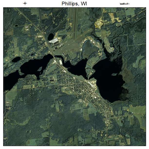 Phillips, WI air photo map