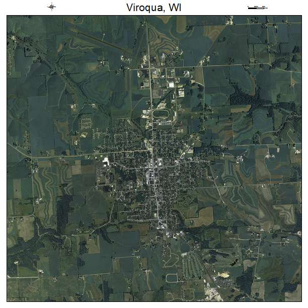 Viroqua, WI air photo map