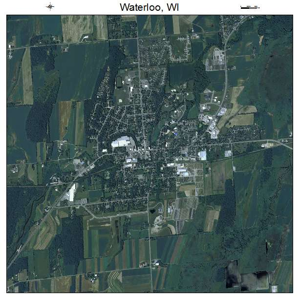 Waterloo, WI Wisconsin Aerial Photography Map 2015
