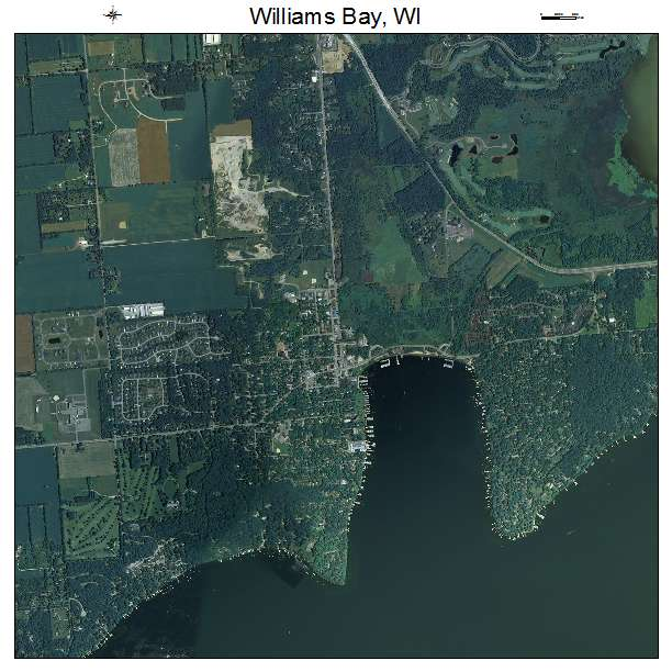Aerial Photography Map Of Williams Bay  Wi Wisconsin