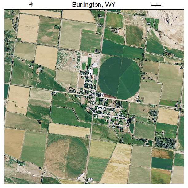 Burlington, WY air photo map