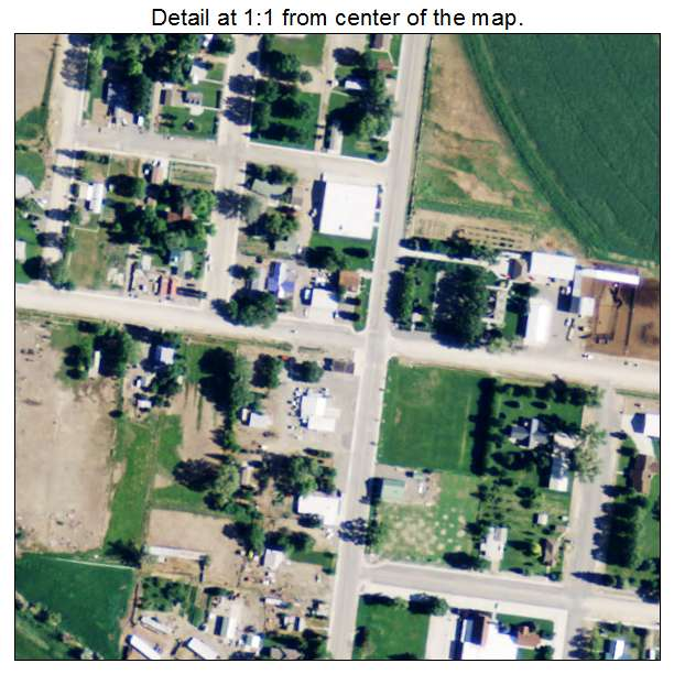 Burlington, Wyoming aerial imagery detail