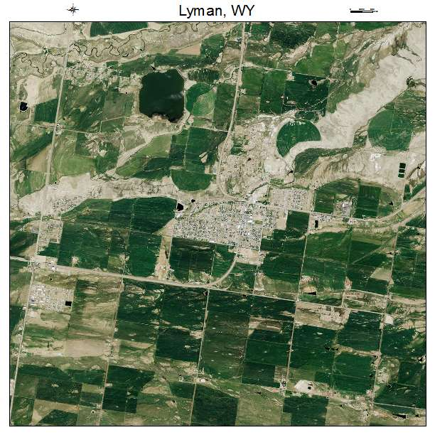 Aerial Photography Map Of Lyman Wy Wyoming