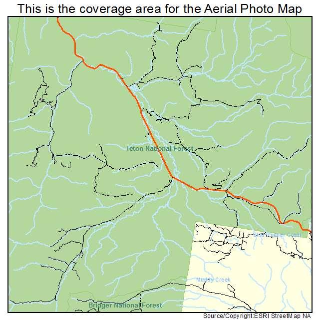 Bondurant Wyoming Map.Aerial Photography Map Of Bondurant Wy Wyoming