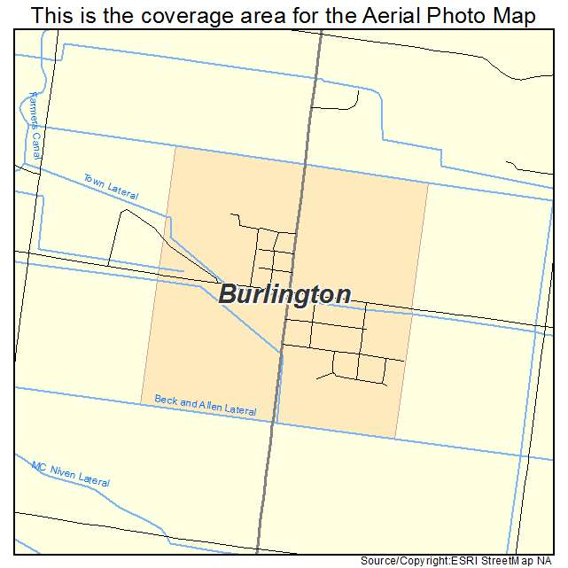 Burlington, WY location map