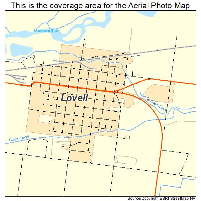 Aerial Photography Map Of Lovell Wy Wyoming